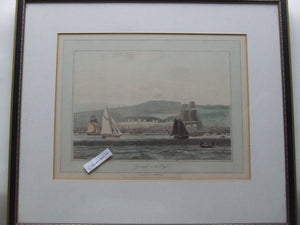 Greenock on the Clyde  -  antique print