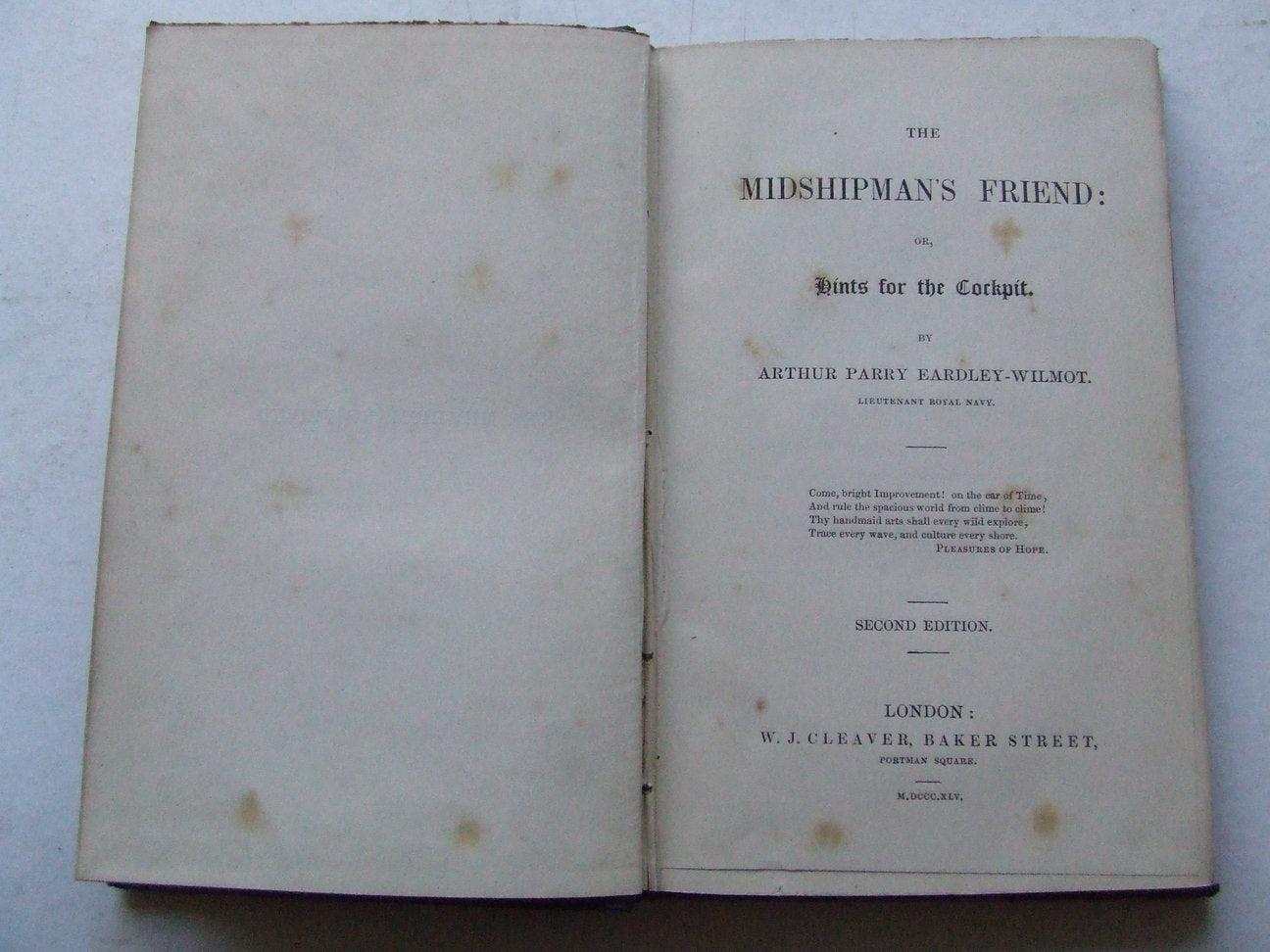 The Midshipman's Friend: or, hints for the cockpit