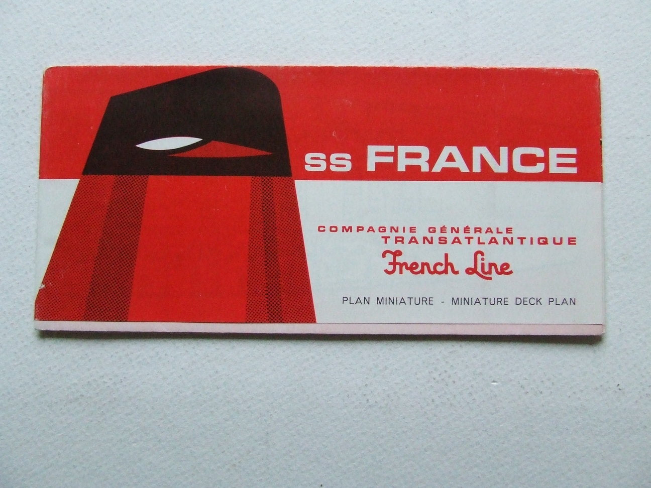 ss France - Plan Miniature / Miniature Deck Plan