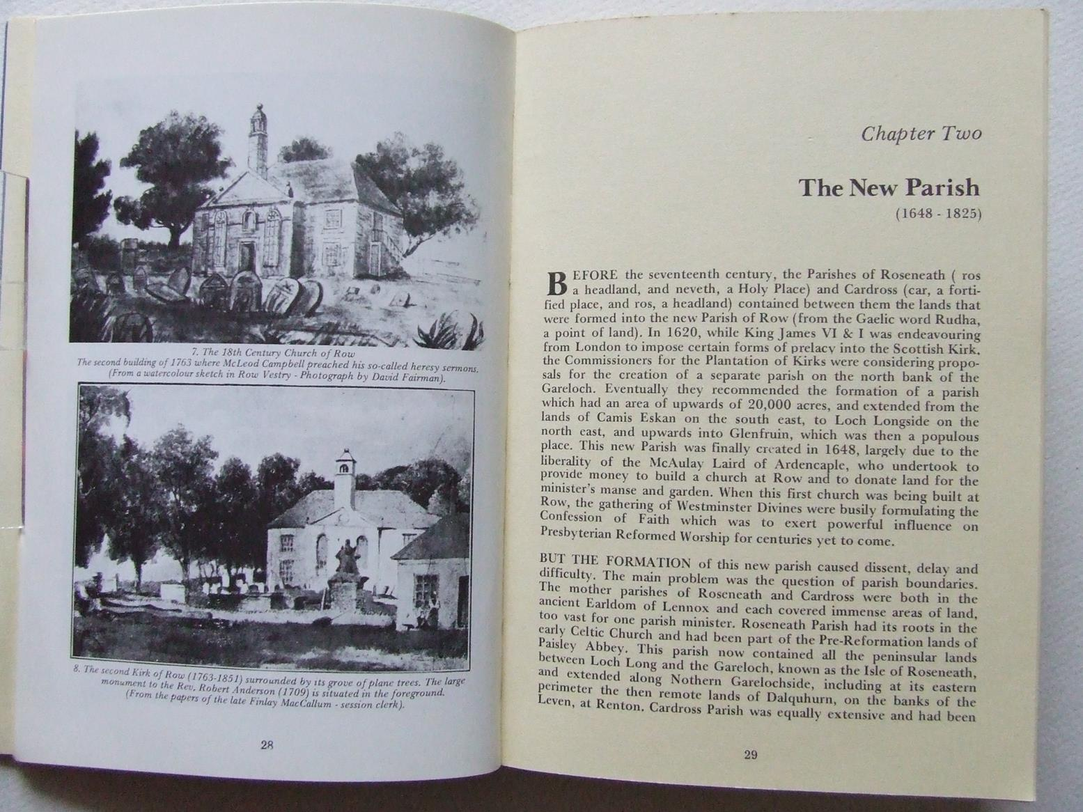 A Village Heritage - The Parish of Rhu, 1648-1980