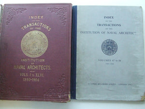 Index to the Transactions of the Institution of Naval Architects