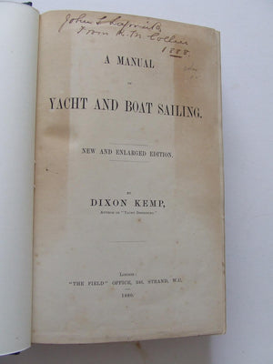 Manual of Yacht and Boat Sailing. new and enlarged edition