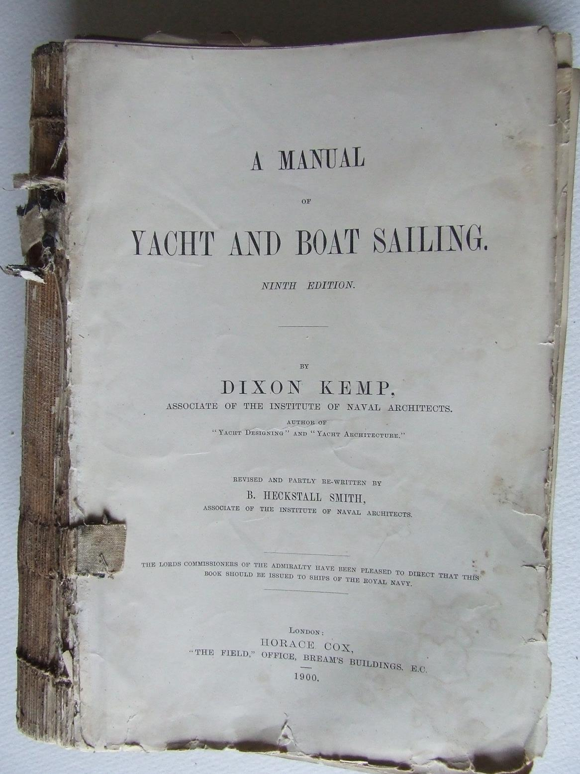 Manual of Yacht and Boat Sailing.  ninth edition.
