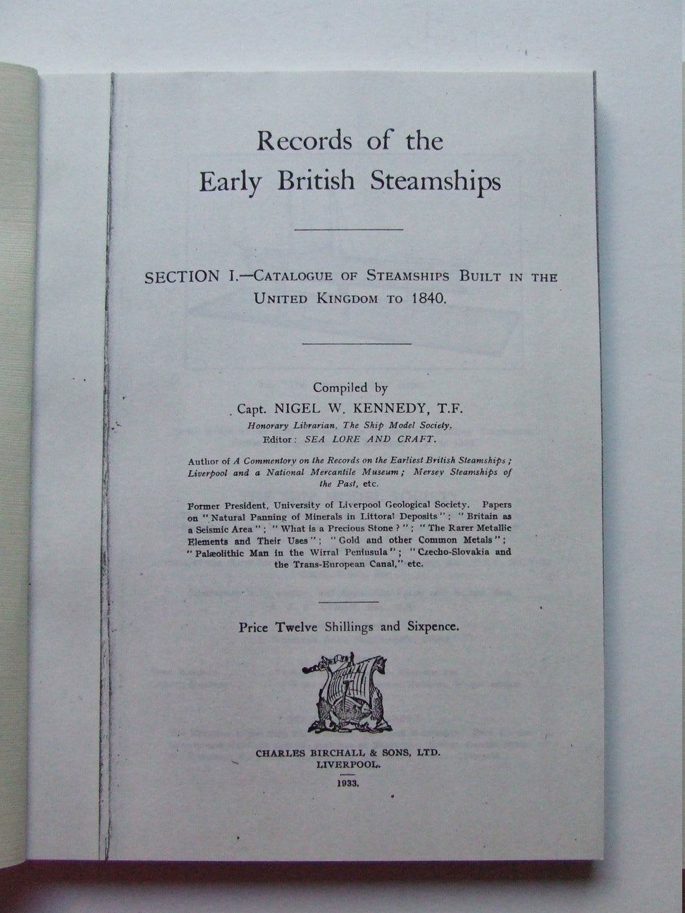Records of the Early British Steamships