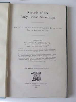 Records of the Early British Steamships.