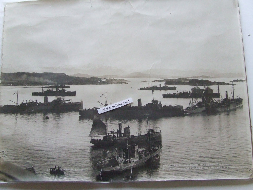 English Minesweepers on the Lervik Harbor, Norway