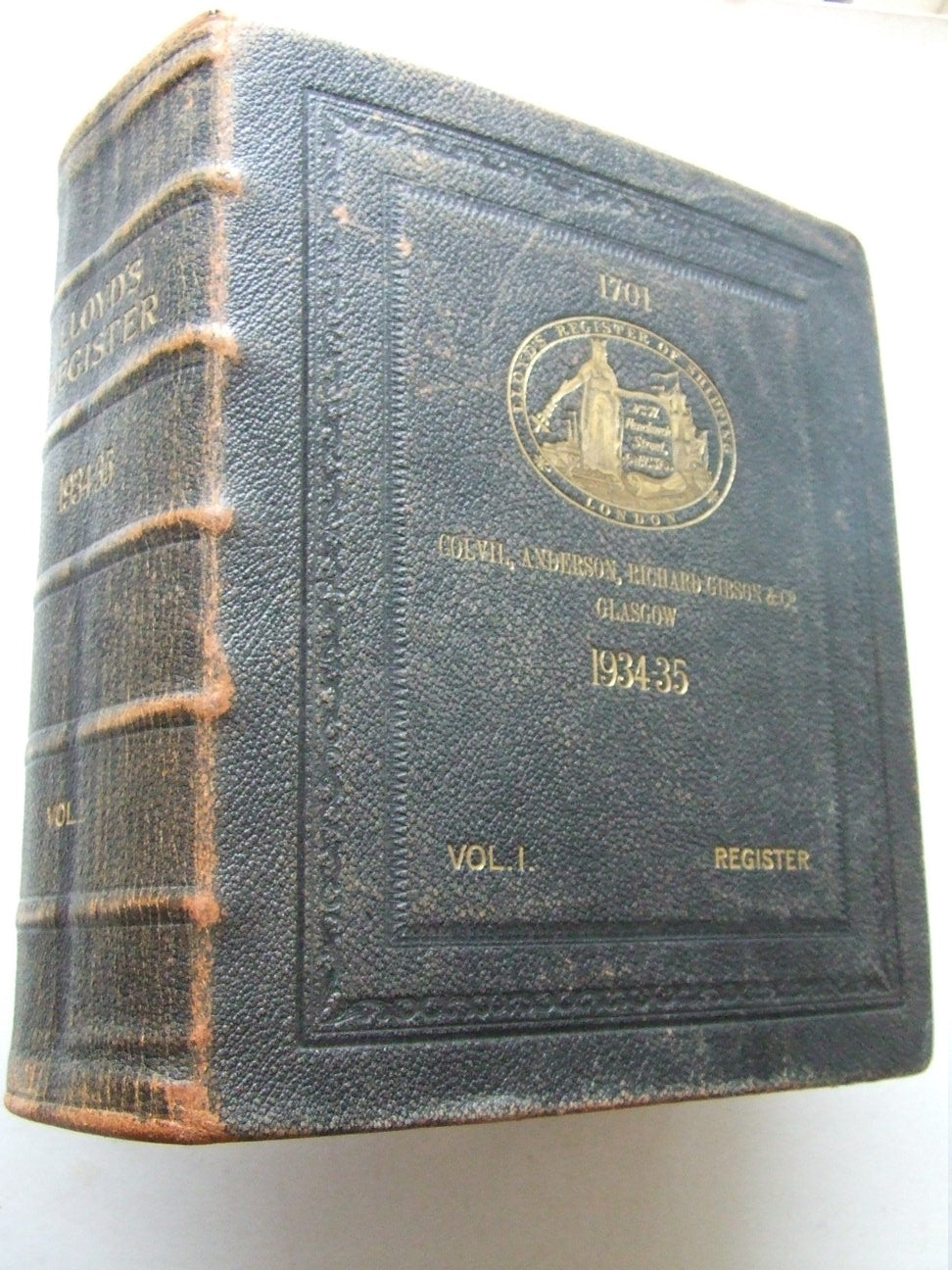 Lloyd's Register of Shipping....from 1st July 1934 to 30th June 1935
