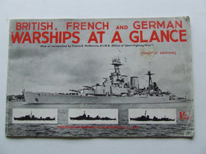British, French and German Warships at a Glance. 2nd edition