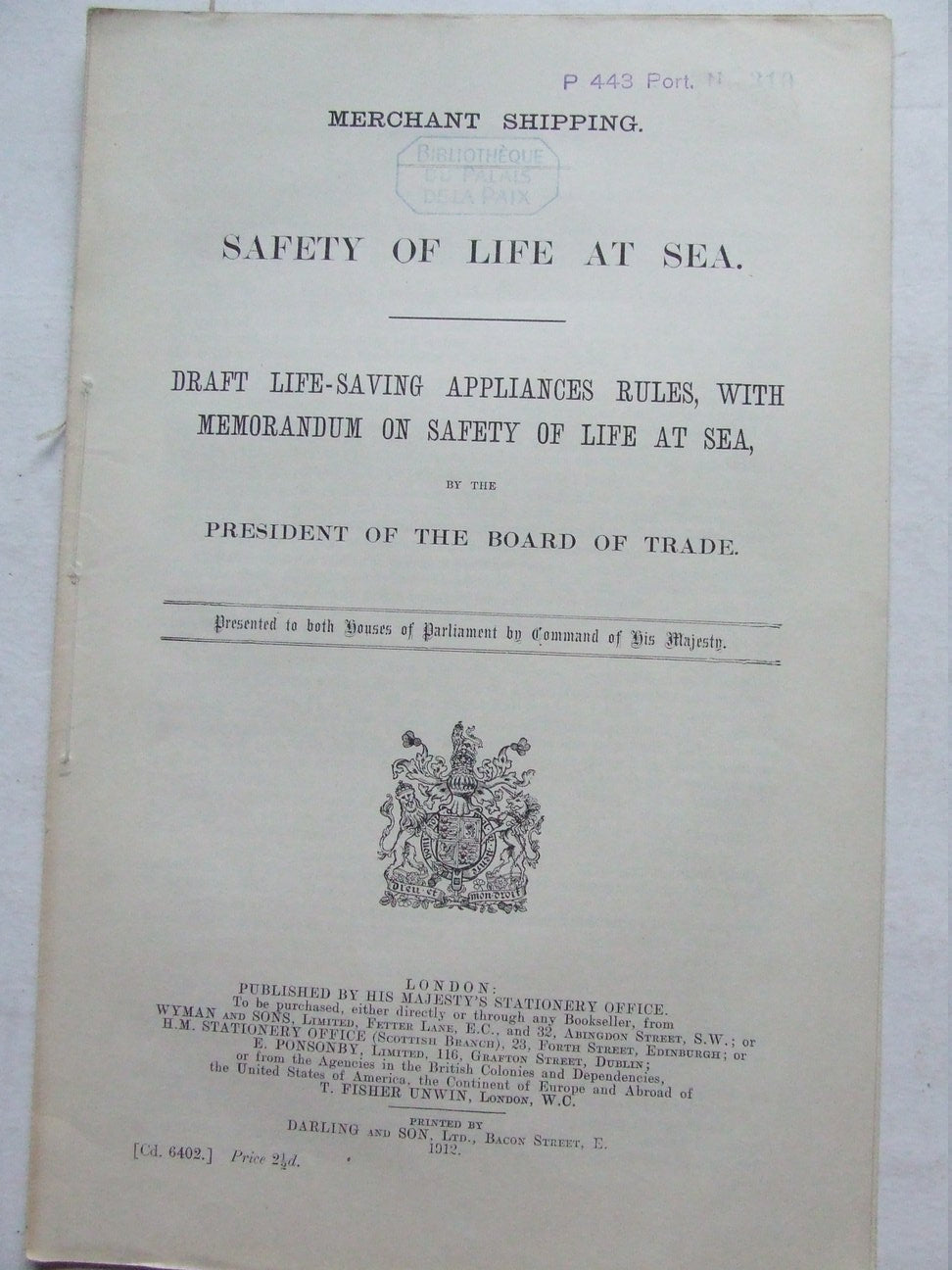 Safety of Life at Sea - draft life-saving appliances rules