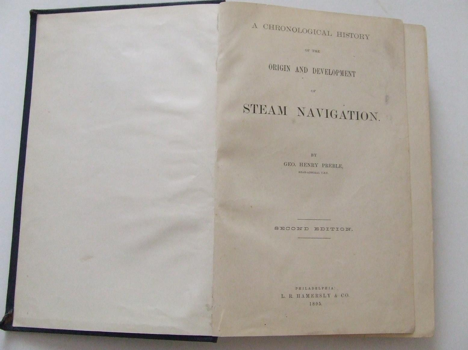 Chronological History of the Origin and Development of Steam Navigation