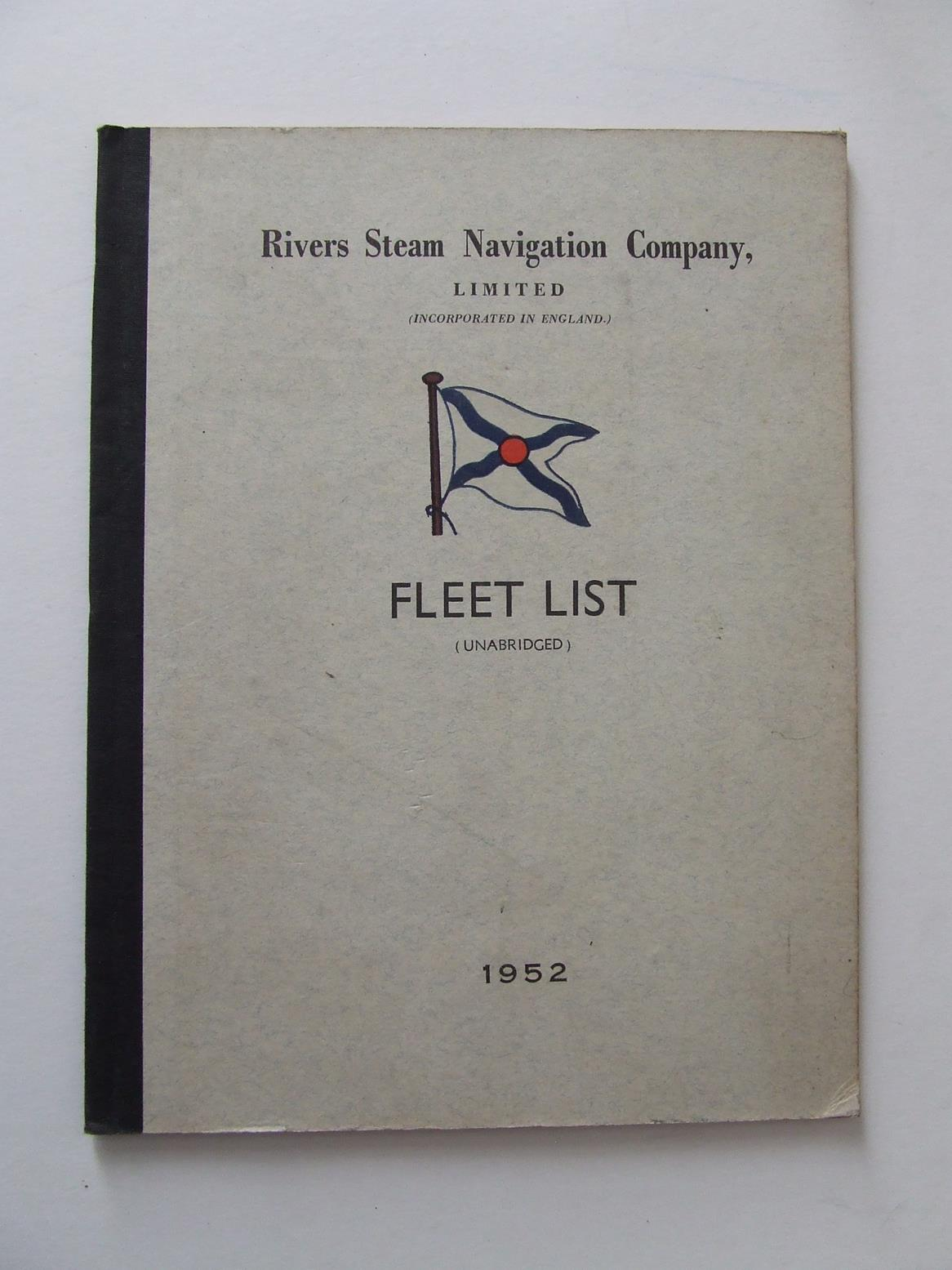 Rivers Steam Navigation Company, Limited. Fleet List (unabridged), 1952