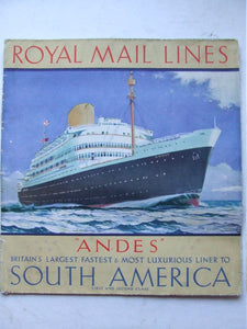"Royal Mail Lines - ""Andes"""