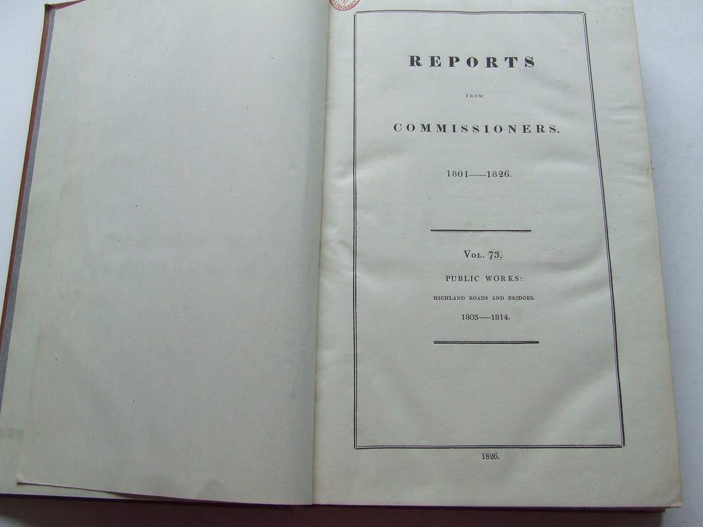 Reports from Commissioners, 1801-1826