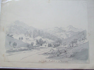 Scottish Highland Scenery  -  a collection of original 1824 pencil and wash sketches