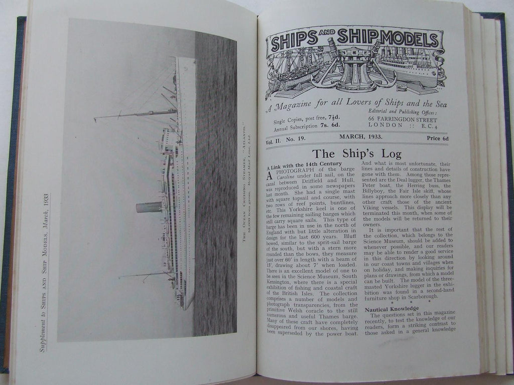 Ships and Ship Models, a magazine for all lovers of the sea