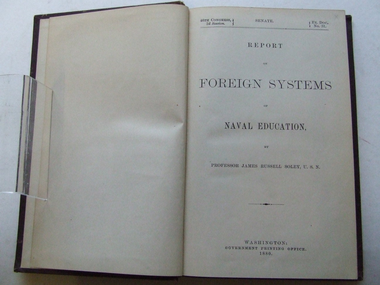 Report on Foreign Systems of Naval Education
