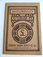 Motorboat, Catalog 'A'.