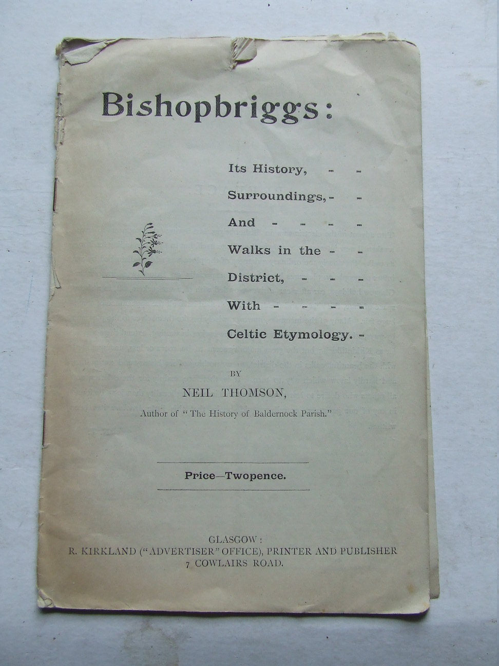 Bishopriggs, is history, surroundings