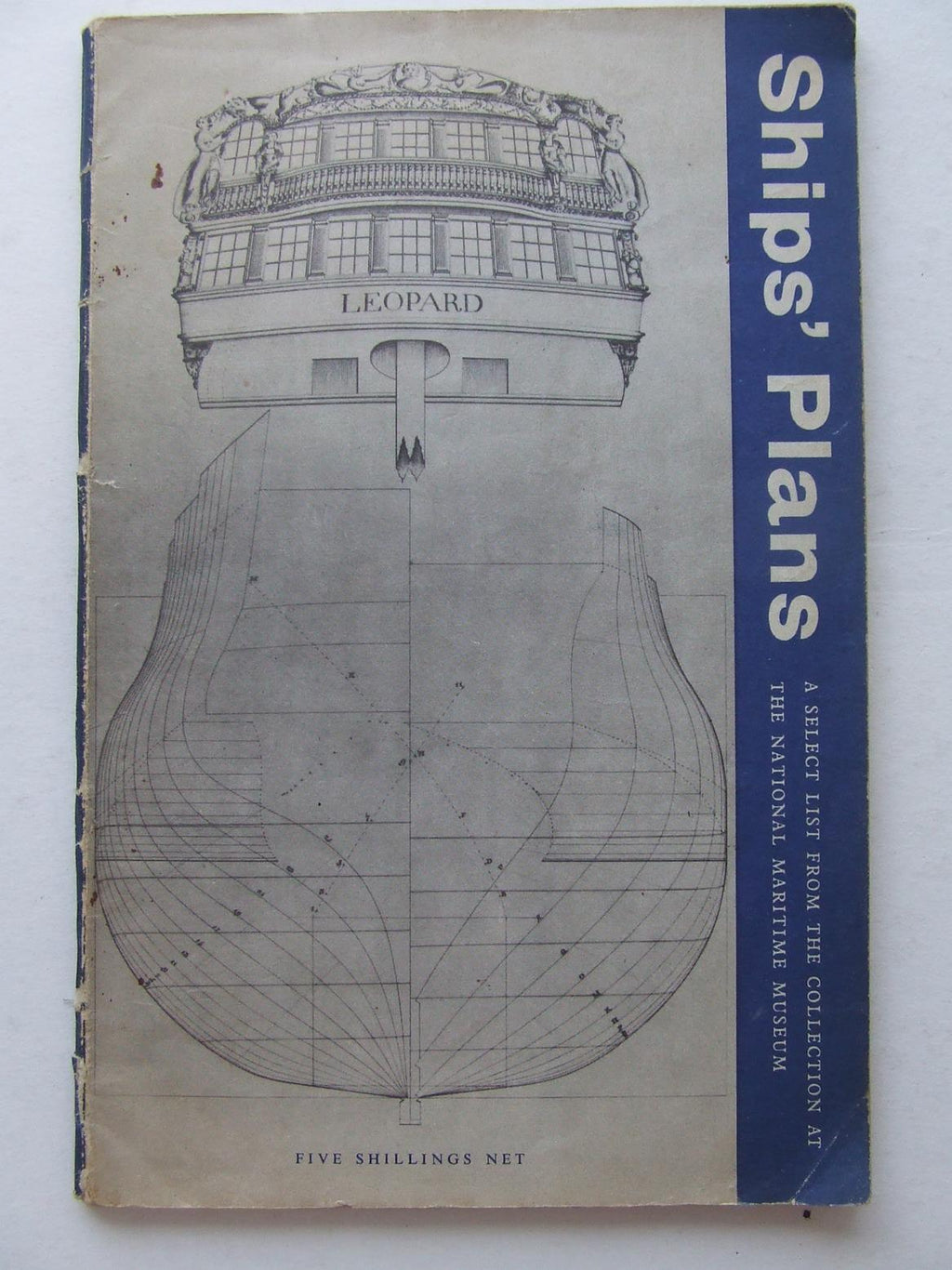 Ships' plans, a select list from the collection at the National Maritime Museum