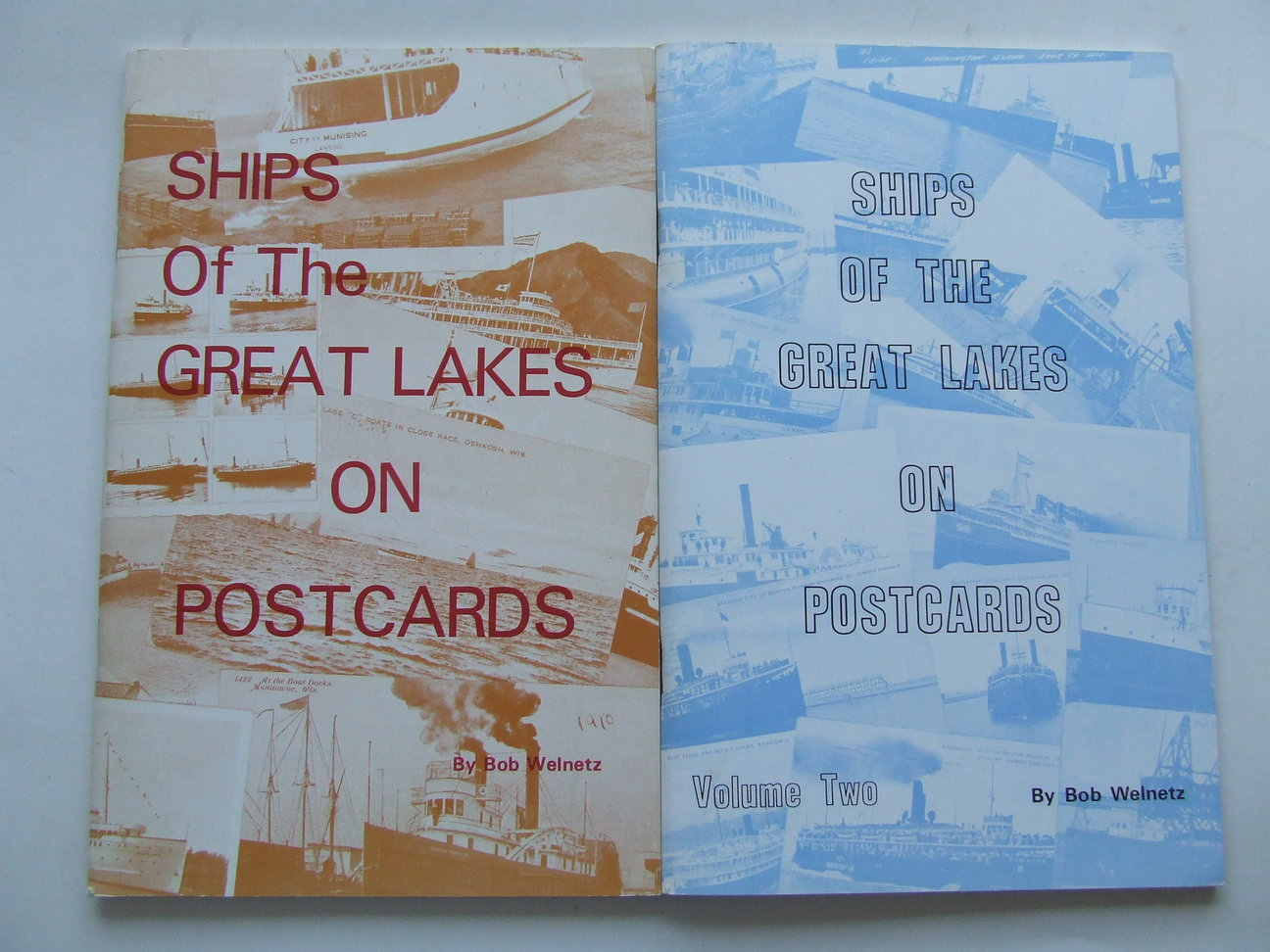 Ships of the Great Lakes on Postcards. volumes one and two