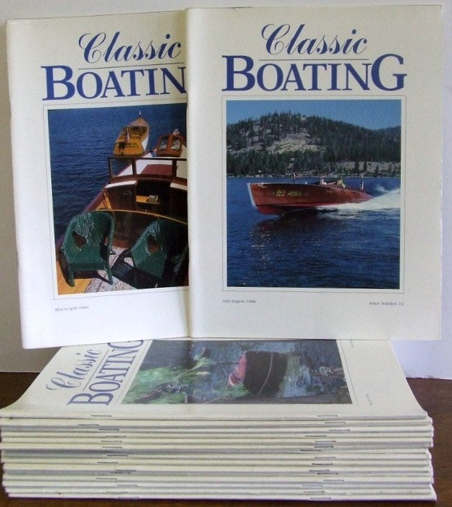 Classic Boating.  issues no. 57 to 74 (Jan/Feb 1994) to Nov/Dec 1996)