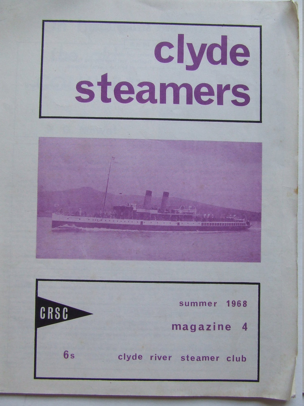 'Clyde Steamers', no.4