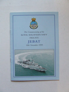 Commissioning of the Royal Malaysian Navy Frigate 'Jebat', 18th November 1999