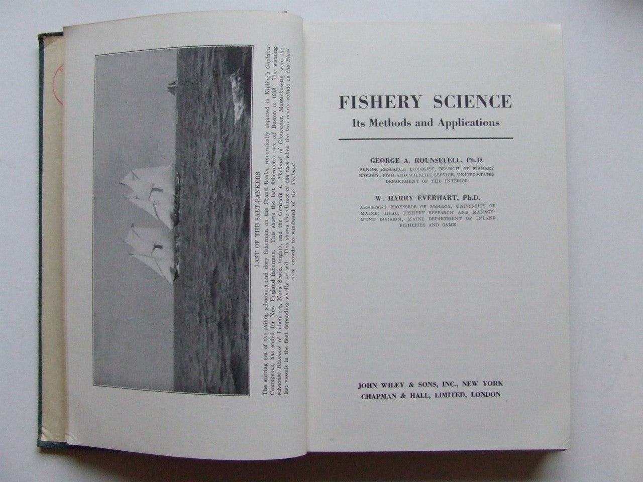 Fishery Science, its methods and applications