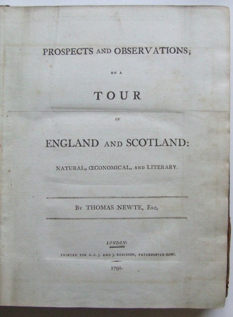 Prospects and Observations; On A Tour in England and Scotland: Natural, Oeconomical, and Literary