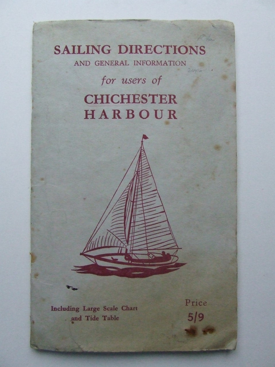 Sailing Directions and General Information for Users of Chichester Harbour.  3rd edition.