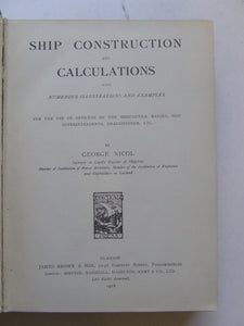 Ship Construction and Calculation