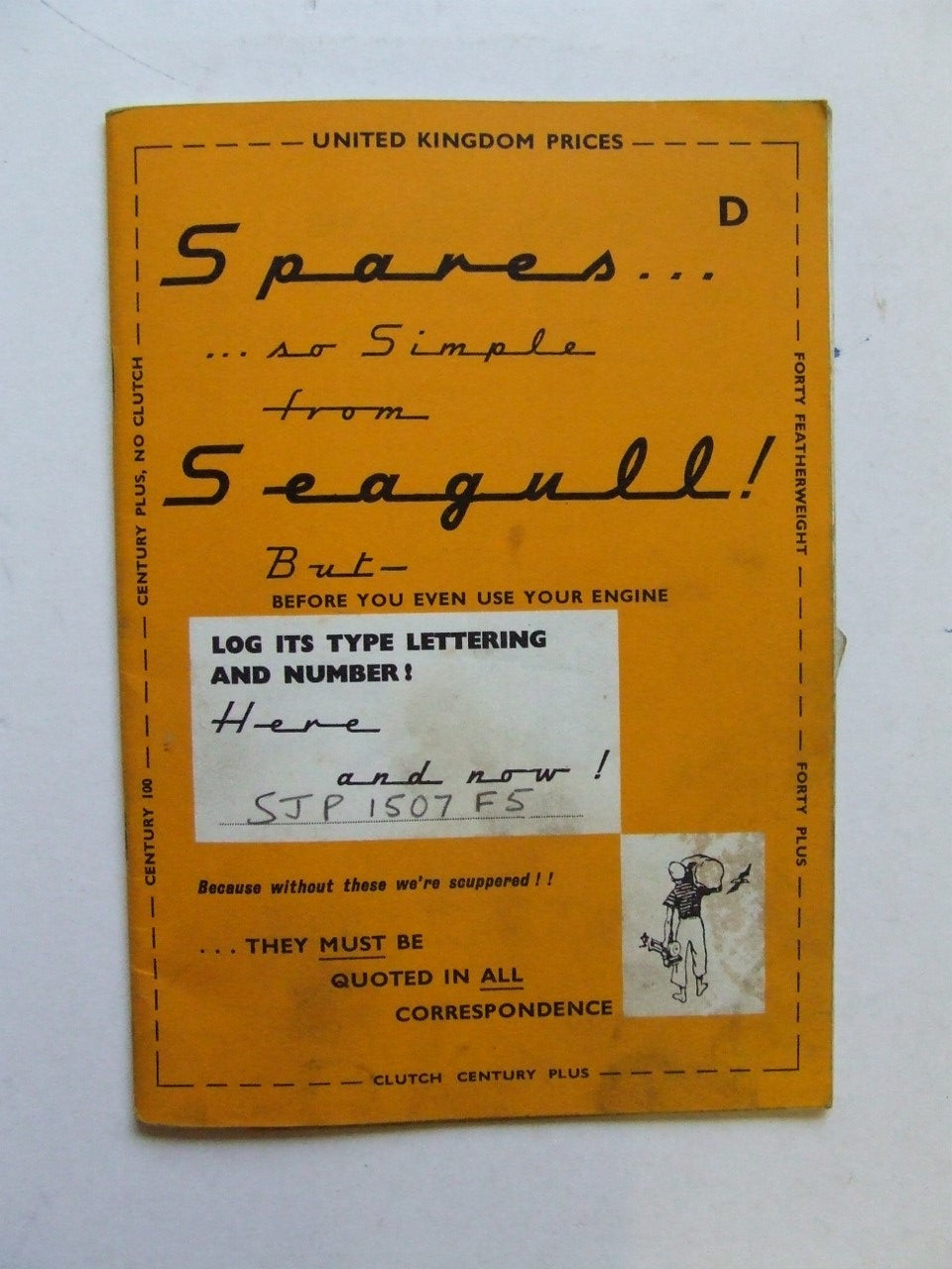 Spares...so simple from  Seagull  [Seagull outboard motor spares booklet]