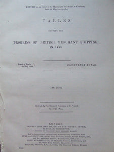 Tables Showing the Progress in Merchant Shipping in 1893