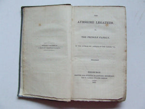 "The Ayrshire Legatees; or, The Pringle Family.  by the author of ""Annals of the Parish"", etc."