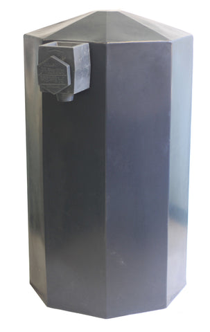 Cistern - Charcoal Black - 100% Recycled - 500 L / 132 Gallons
