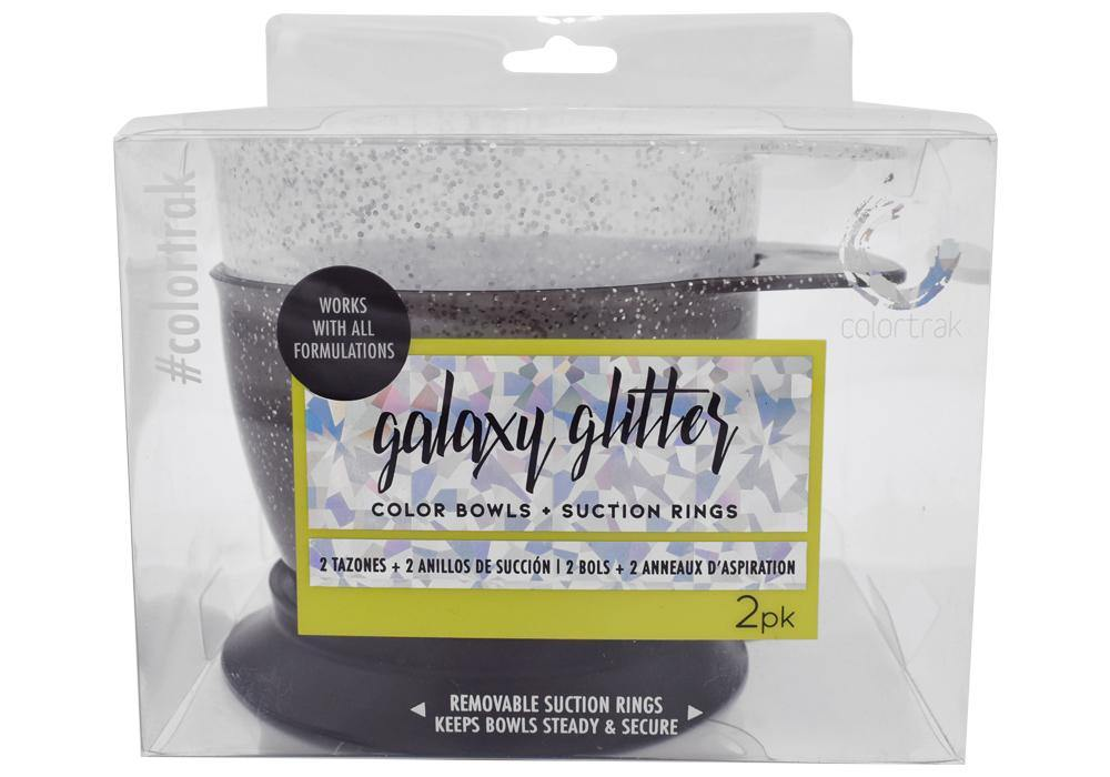 Colortrak Galaxy Glitter Suction Bowls - 2 Pack