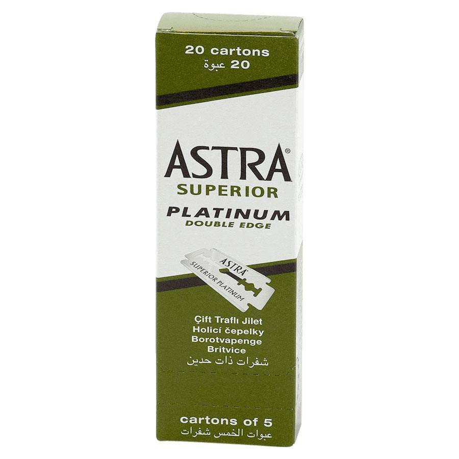 Astra Superior Platinum Double Edge Razor Blades - 100pk - Norris Hair & Beauty