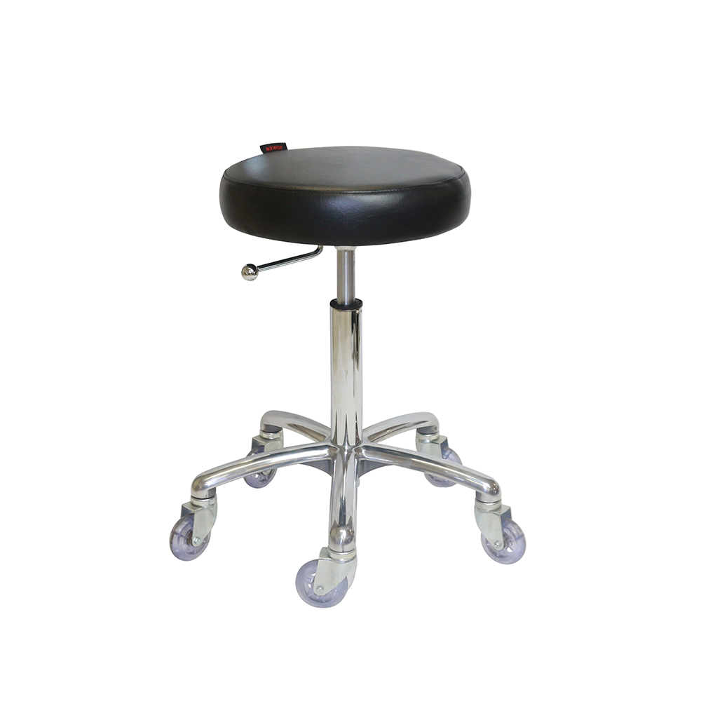 Turbo Black Cutting Stool - Chrome Base - Norris Hair & Beauty