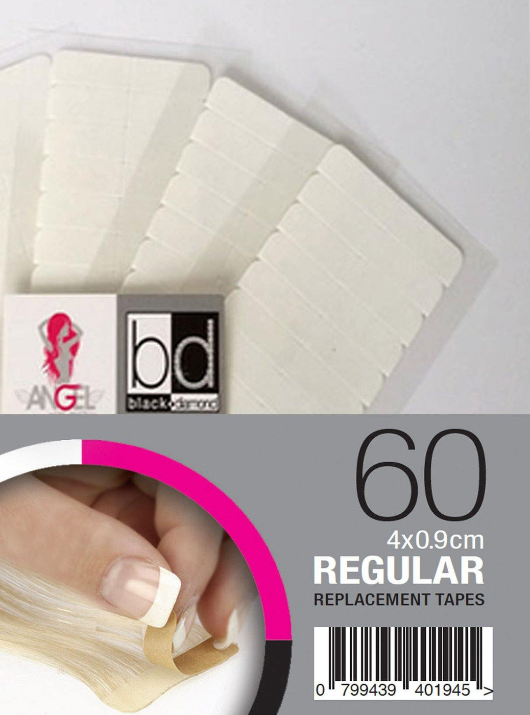 Angel Replacement Tapes Regular 4x9cm 60pk - Norris Hair & Beauty