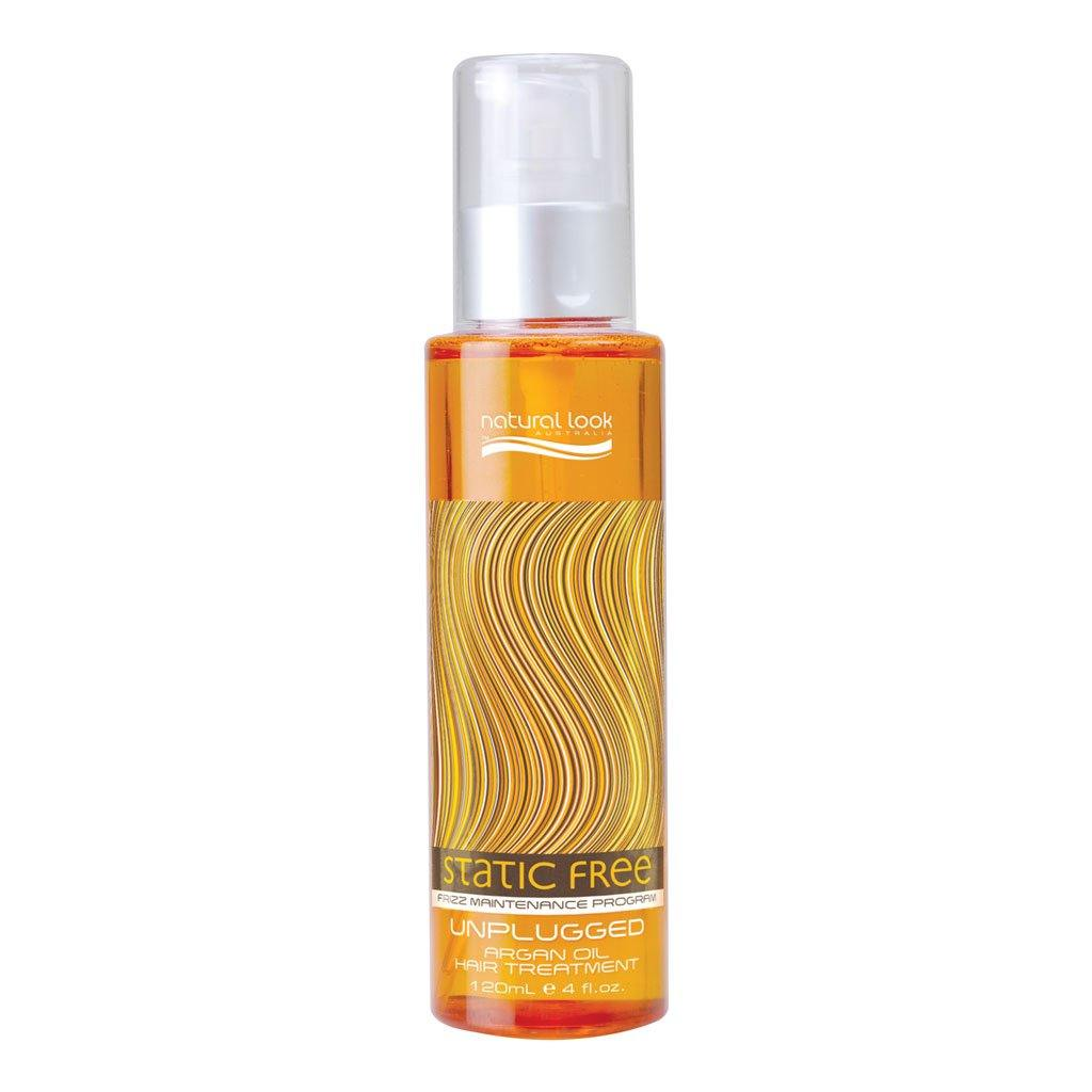 Natural Look Static Free Unplugged Argan Oil Hair Treatment 120ml - Norris Hair & Beauty
