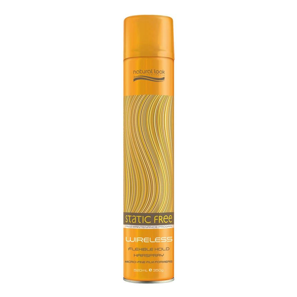 Natural Look Static Free Wireless Flexible Hairspray 350g