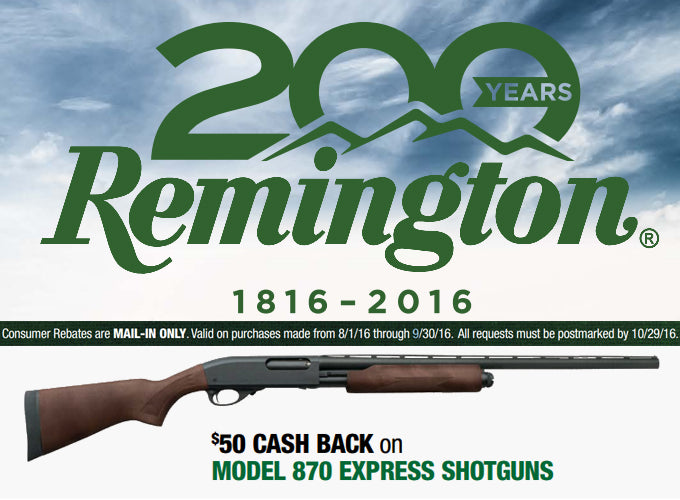 Cash Back on America's Legendary Pump-Action Shotgun!