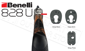 Benelli 828U Shotgun, Engraved Nickel with Satin Walnut Stock