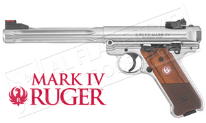 "Ruger MK IV Hunter Pistol, 22LR 6.88"" Fluted Barrel #40118"