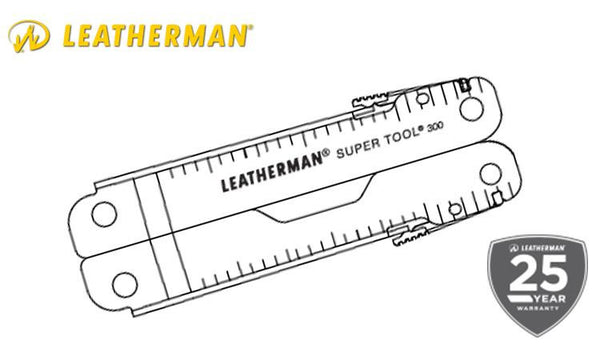 Leatherman Super Tool 300 Stainless with Leather Sheath #831183
