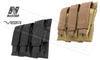 VISM Triple Pistol Magazine Pouch Tan or Black