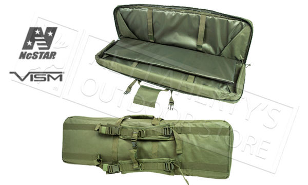 NcStar VISM Double Carbine Case with Backpack Straps in Green or Tan #CVDC2946-42