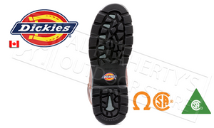 "Dickies Stryker 8"" Work Boot, Brown Sizes 8-12 #D8822DW"