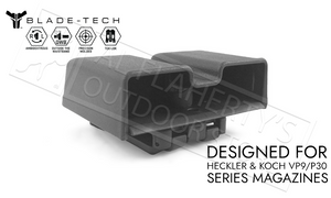 Blade-Tech Signature Double Mag Pouch for HK VP9 and P30 Series Magazines with TekLok Mount #AMMX0024GL940TLBLK
