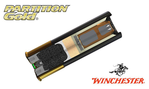 "<b>(Store Pickup Only)</b><br>12 Gauge, Winchester Partition Gold Sabot Slugs, 2-3/4"", 385 Grain, 1725 fps, Box of 5 #SSP12"